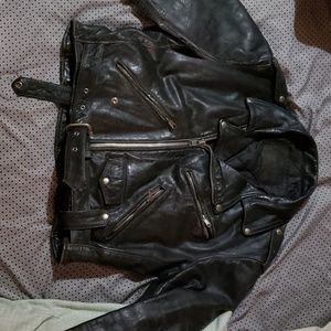 Antique Harley leather jacket